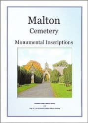 Malton - Monumental Inscriptions (Malton Cemetery) - A5 Book