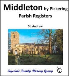 Middleton - Parish Registers (Baptisms, Marriages & Burials) - DOWNLOAD (FREE DELIVERY)