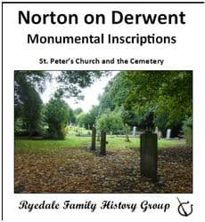 Norton On Derwent - Monumental Inscriptions - Download (Free Delivery)