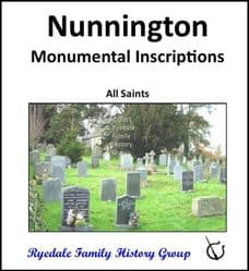 Nunnington - Monumental Inscriptions - DOWNLOAD (FREE DELIVERY)