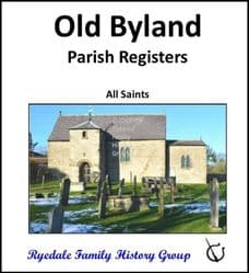 Old Byland - Parish Registers (Baptisms, Marriages & Burials) - CD