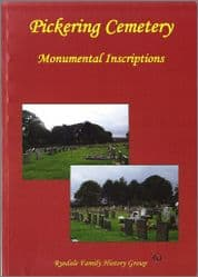 Pickering - Monumental Inscriptions (Whitby Road Cemetery) - A5 Book