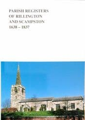 Rillington with Scampston Parish Registers 1626 - 1837