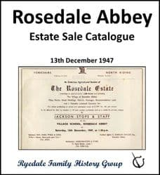 Rosedale Abbey - Estate Sale Catalogue 1947 - DOWNLOAD (FREE DELIVERY)