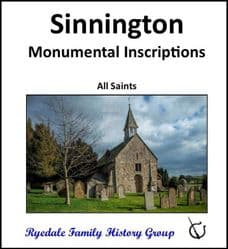 Sinnington - Monumental Inscriptions - DOWNLOAD (FREE DELIVERY)