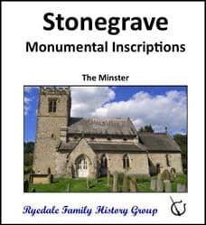 Stonegrave - Monumental Inscriptions - DOWNLOAD (FREE DELIVERY)