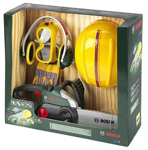 Bosch Children's Chainsaw Battery Powered Toy Set With Accessories