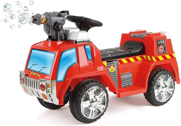 Electric Fire Engine with Bubble Gun for Children
