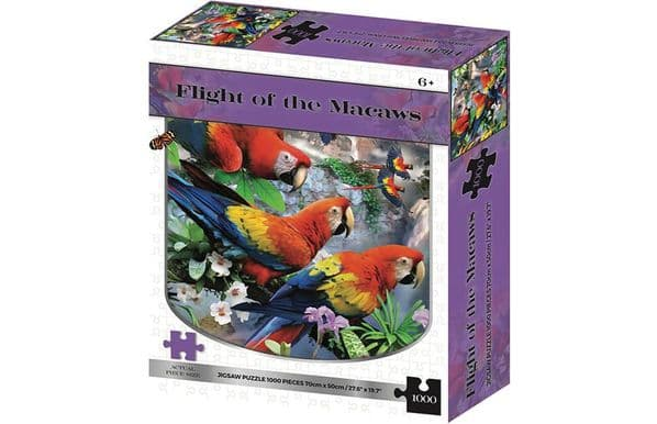 Flight of the Macaws Parrots 1000 Pieces Jigsaw Puzzle UK