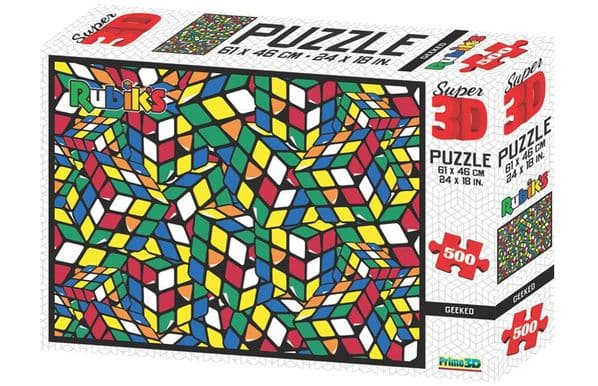 Geeked Super 3D Rubiks 500 Pieces Jigsaw Puzzle 10109