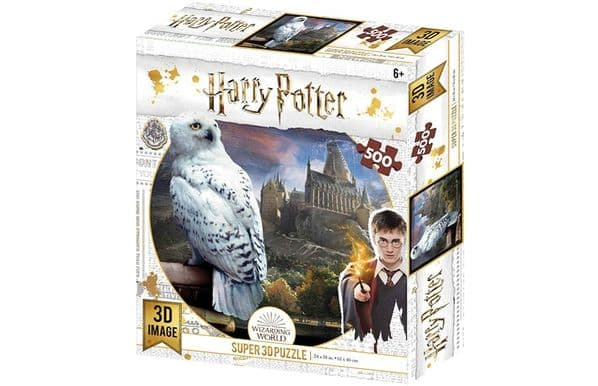 Harry Potter Hedwig 3D Lenticular 500 Pieces Jigsaw Puzzle HP32514