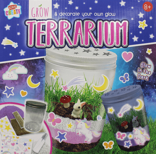 Kids Grow and Decorate your own Glow Terrarium Creative Set