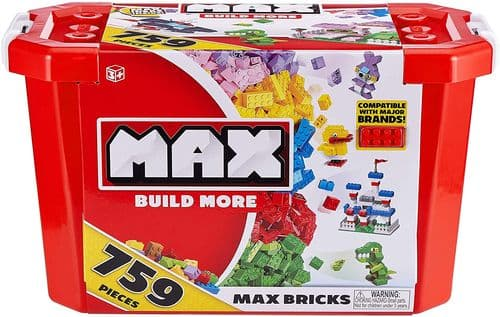 Kids Zuru Max 759 Pieces Construction Building Blocks Bricks Set Toy