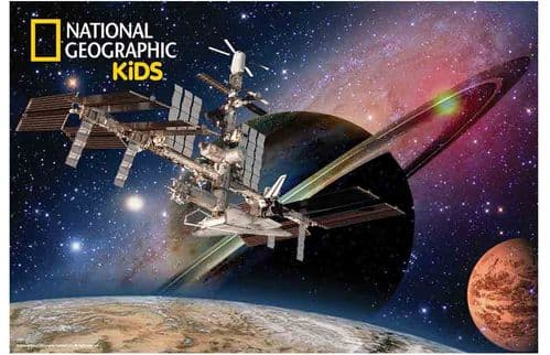 National Geographic 3D Lenticular Jigsaw Puzzle 150 Pcs Satellite In Space