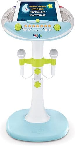 Singing Bluetooth Kids Pedestal Karaoke Machine Two Microphones