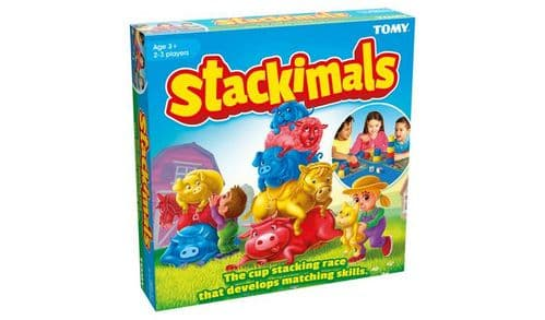 Stackimals Stacking Cups Board Game for Kids