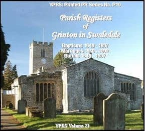 Grinton-in-Swaledale 1640 - 1807 (P.10)